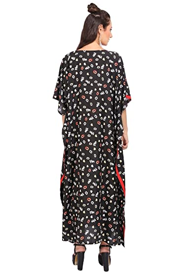 5b5f1b690b Miss Lavish Kaftan Tunika Maxikleid Nachtwäsche Plus Size Kimono Braun:  Amazon.de: Bekleidung