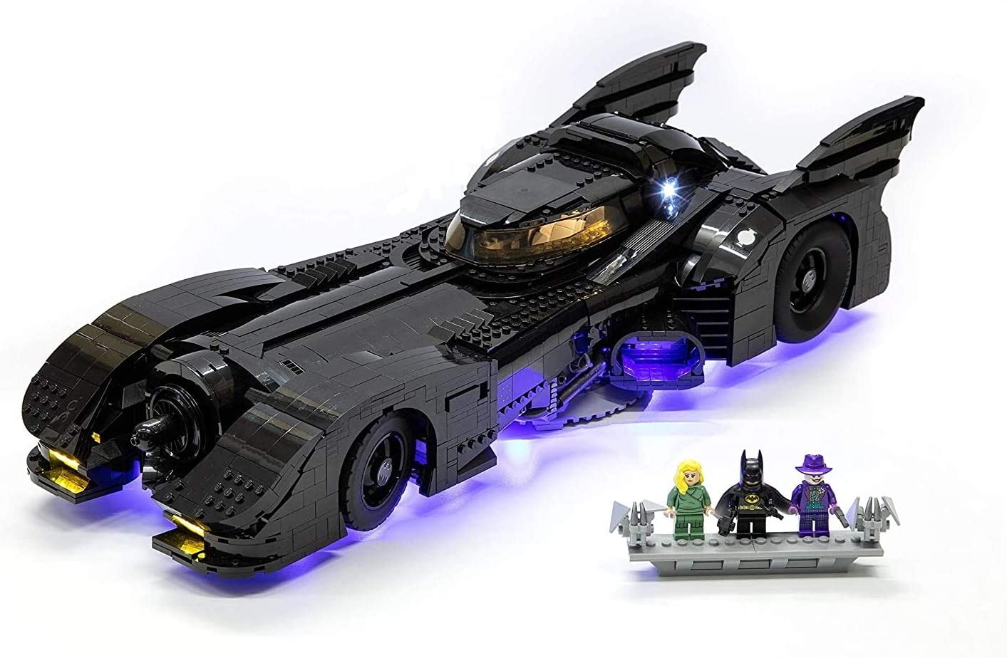 Lego Set Not Included Brick Loot Deluxe LED Light Kit Fits Your Lego Super Heroes 1989 Batmobile Set 76139