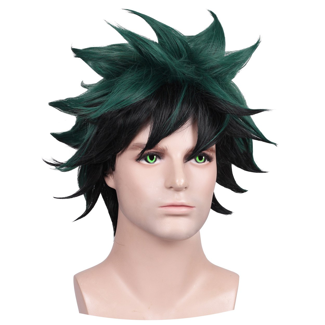 FantaLook Short Green with Black Cosplay Wig ManZo