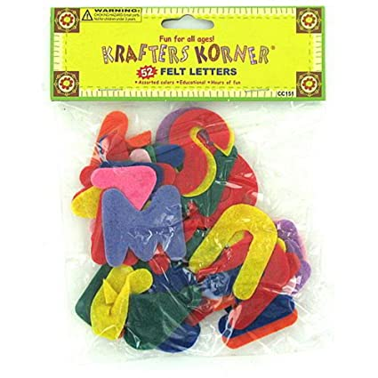 Amazon Com 144 Crafting Felt Letters Arts Crafts Sewing