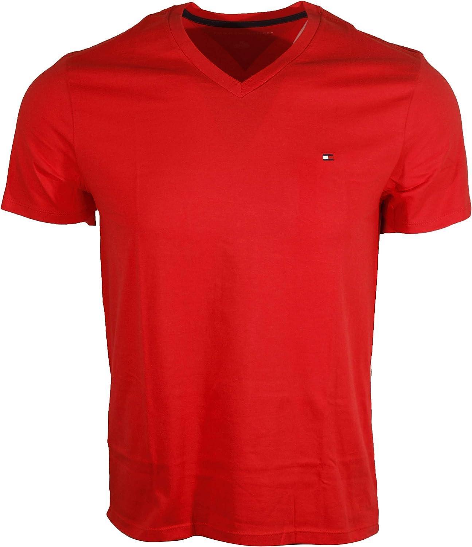 Tommy Hilfiger Men's V-Neck Classic Fit Logo T-Shirt
