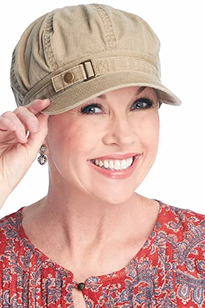 632ce55a Buckle Newsboy Hat | Classic Ballcap for Chemo, Cancer Patients As Pictured  at Amazon Women's Clothing store: