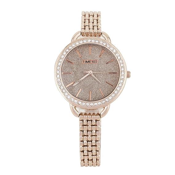 Time100 Reloj de Cuarzo para mujer de Cadena reloj fino y elegante para Chica: Amazon.es: Relojes