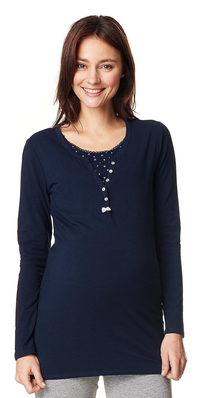 Noppies Schlafanzug 2Set Maria - 2 in 1 Umstandsschlafanzug Sleep Shirt + Hose Pyjama Nachtwäsche 66608 & 66600