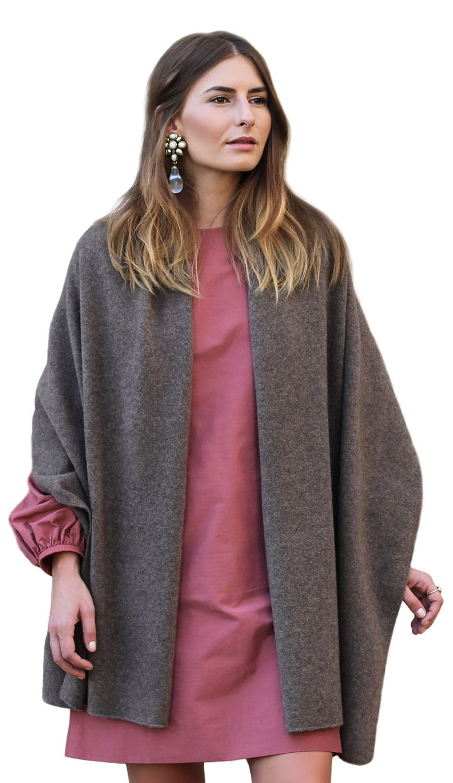 Pashmina Shawl - 100% Tibetan Yak Wool - Citizen Cashmere (Brown 43 504Y-18-09)