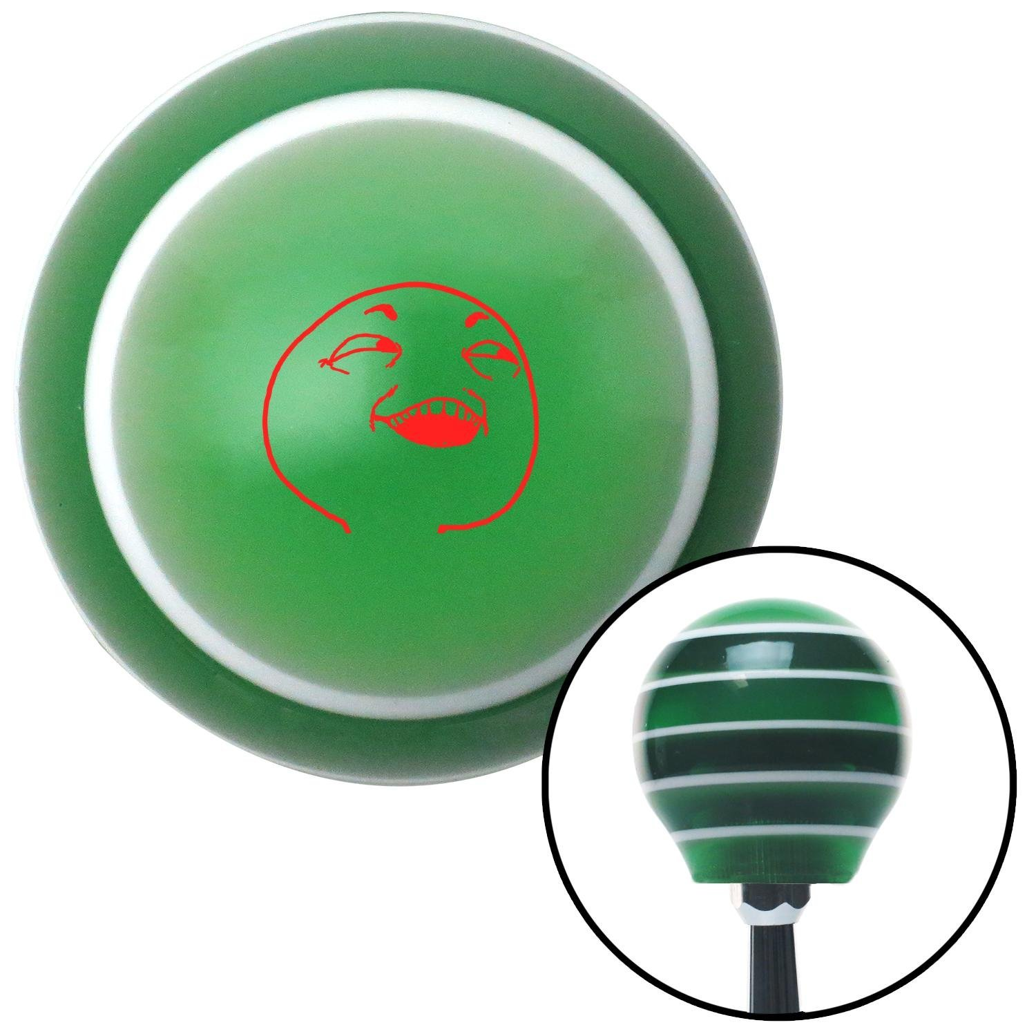 Red What You Did There Green Stripe with M16 x 1.5 Insert American Shifter 274999 Shift Knob