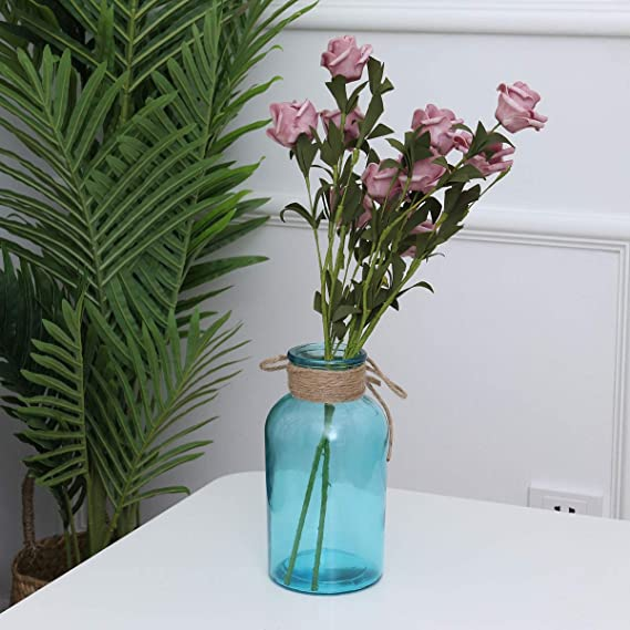 Vosarea jarrón de Flores de Color de Cristal jarrón de ...