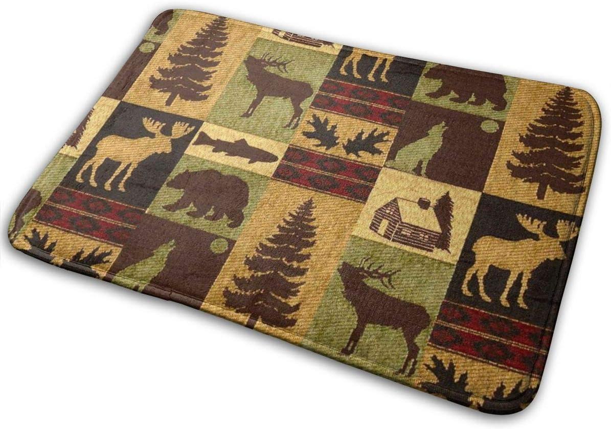 Customize-Moose-Bear-Buck-Doe-Owl-Rabbit-SquirrelRusticCountryFolk Decor Wildlife Themed Natural Burlap Placemats-Double Sided Set of 6