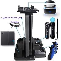 QUMOX Multifuncional PS Cargador de Carga y Cubiertas de Palanca de Agarre de Pulgar para PS4 & PS4 Slim & PS4 Pro & PS VR