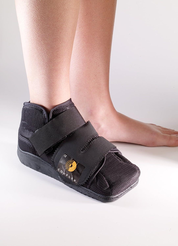 Closed toe medical walking shoe foot protection boot - Amazon Com Corflex Medical Shoe Post Op Foot Surgery Boot Medium Women S Shoe Size 9 11 Black Health Personal Care