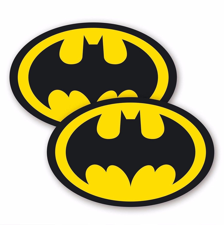 2 x Batman Logo Superhero Comic Book Vinyl Waterproof Adhesive Sticker Laptop Bike Outdoor or Indoor (120mm Wide) JustStickers