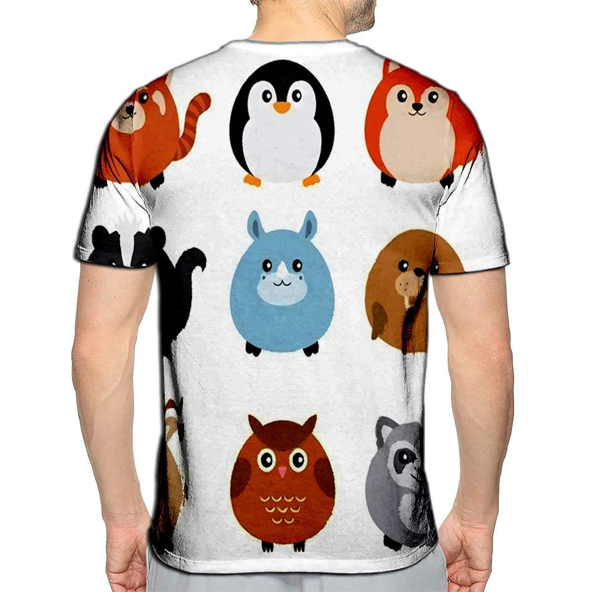 Hidden Animal Owl Casual Summer Women Men T-Shirt 3D Print Short Sleeve Tee tops