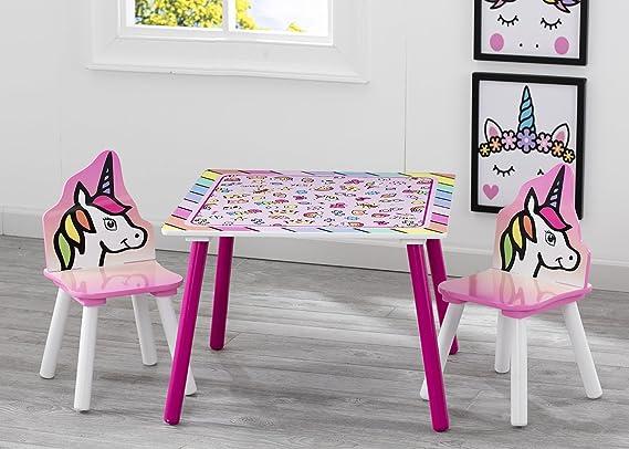 Delta Children Unicornio - Juego de mesa y sillas, unisex: Amazon.es: Bebé