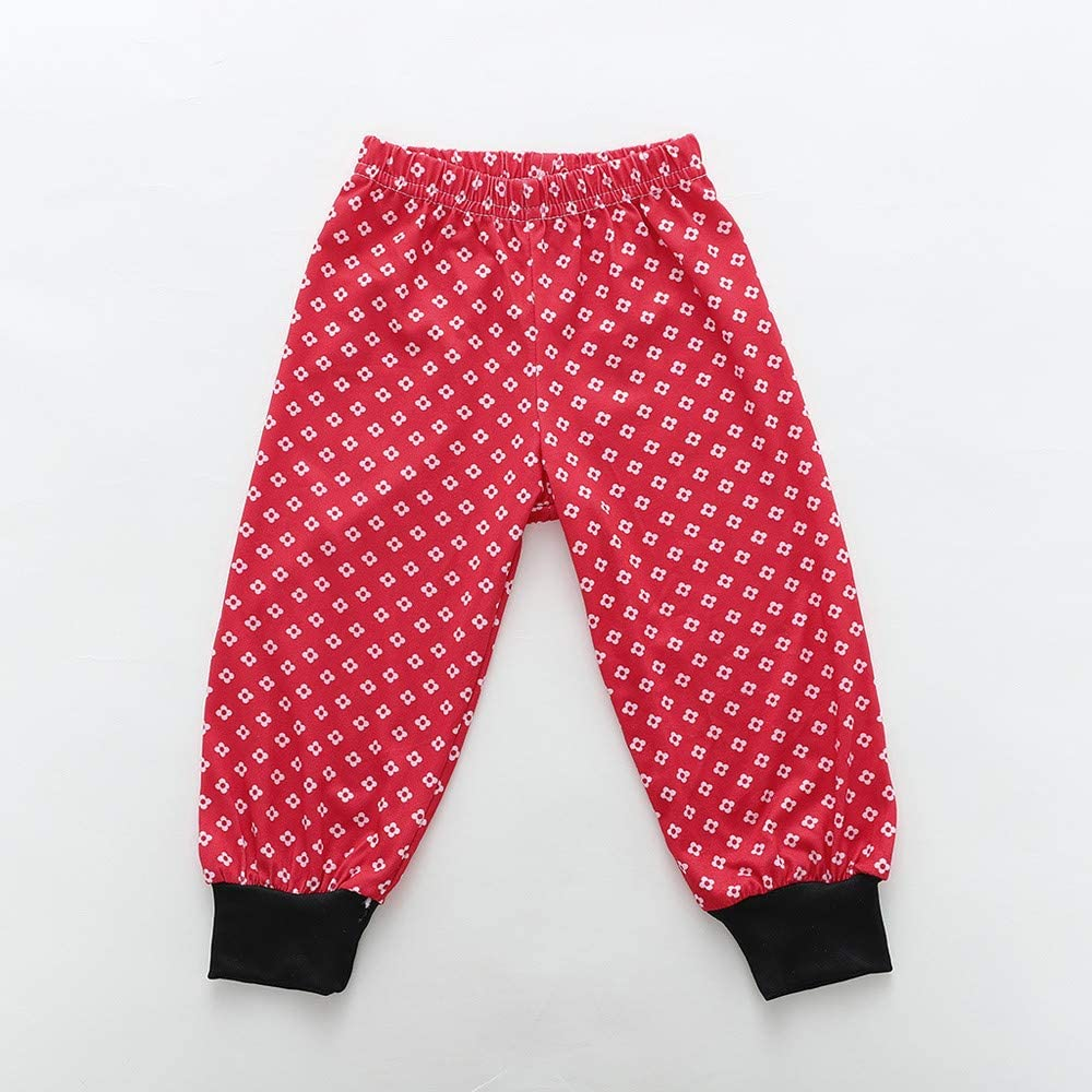 2PCS Kids Christmas Pajamas Sleepwear Set Long Sleeve T-Shirt Tops Pants Outfit Children Nightwear Clothes