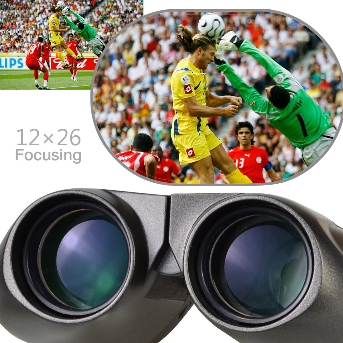 Onete 1226 Birding Compact Binoculars for Adult and Kid – High Power Folding Waterproof Binocular Easy Focus for Outdoor Hunting, Football Gaming, Travelling, Sightseeing