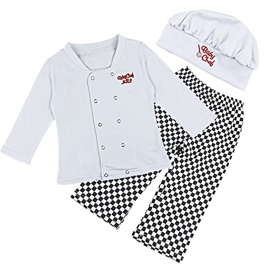 9418f460f Amazon.com  Freebily Kids Chef Cosplay Costume Kitchen Cooking and ...