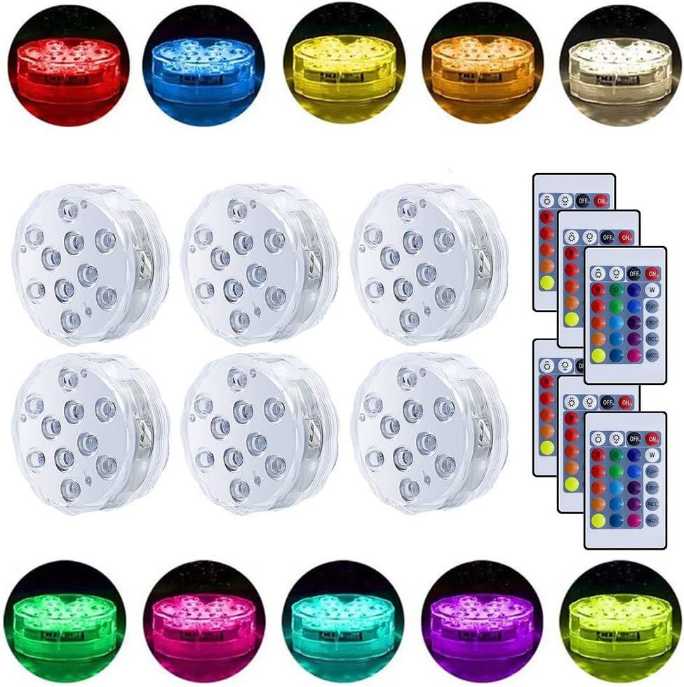 Bajo el agua sumergible luces LED a prueba de agua del multicolor ...