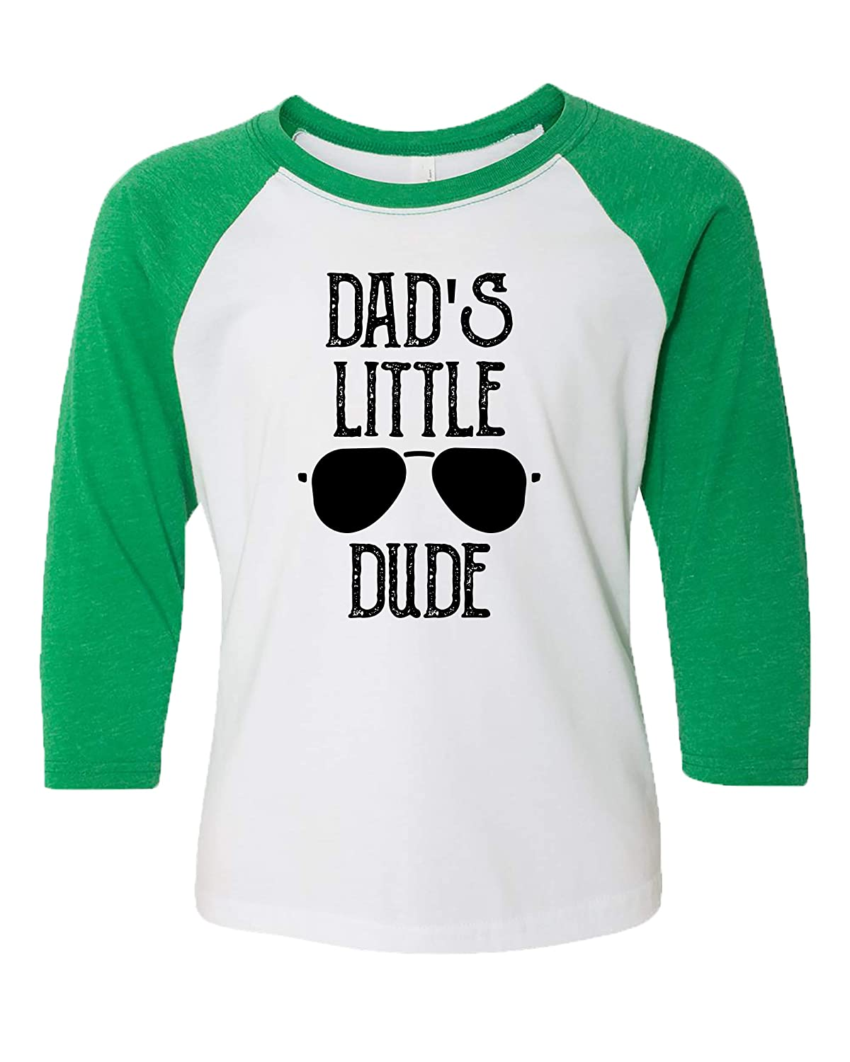 Trenz Shirt Company Fathers Day Dads Little Dude Youth Baseball Tee