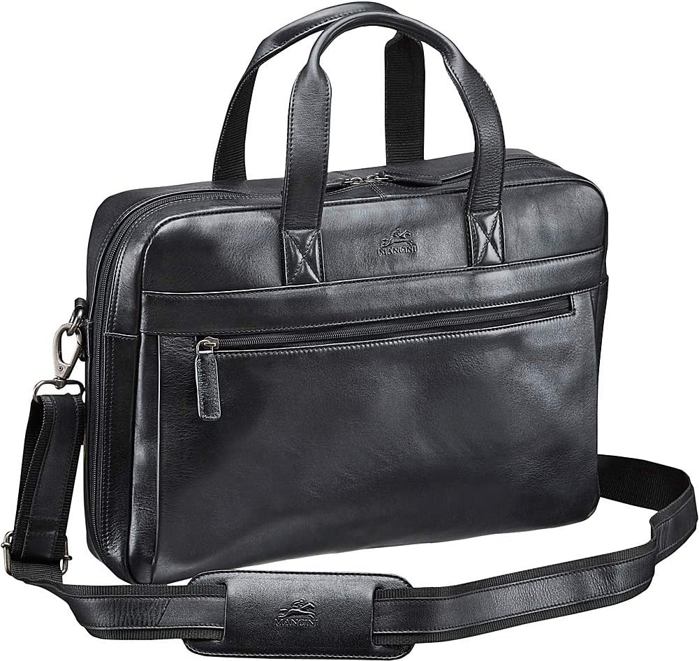 Mancini Leather Goods Vanizia Laptop//Tablet Single Compartment Briefcase with