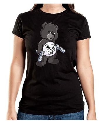 Certified Freak Punisher Bear T-Shirt Girls Black S