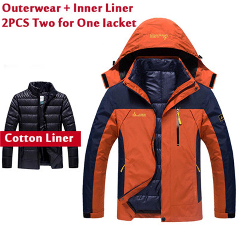 MRstriver Plus Size 5XL 6XL Winter Jacket Men Women Waterproof Windbreakers Two