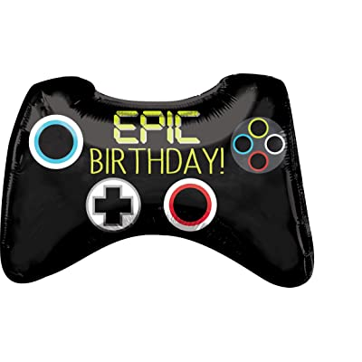"Anagram 37804 28"" Epic Party Game Controller Foil Balloon, Multicolor: Kitchen & Dining"