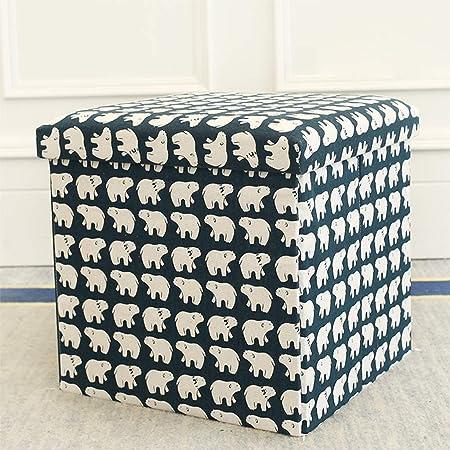 Bandeja Plegable De Almacenamiento De Banco Pequeño Bandeja De Cubos De Tejido De Caja De Cartón