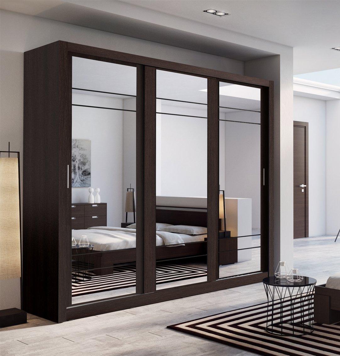 Wardrobe German Made Walnut Black Wimex 5 Doors 3 Drawers 7 Star