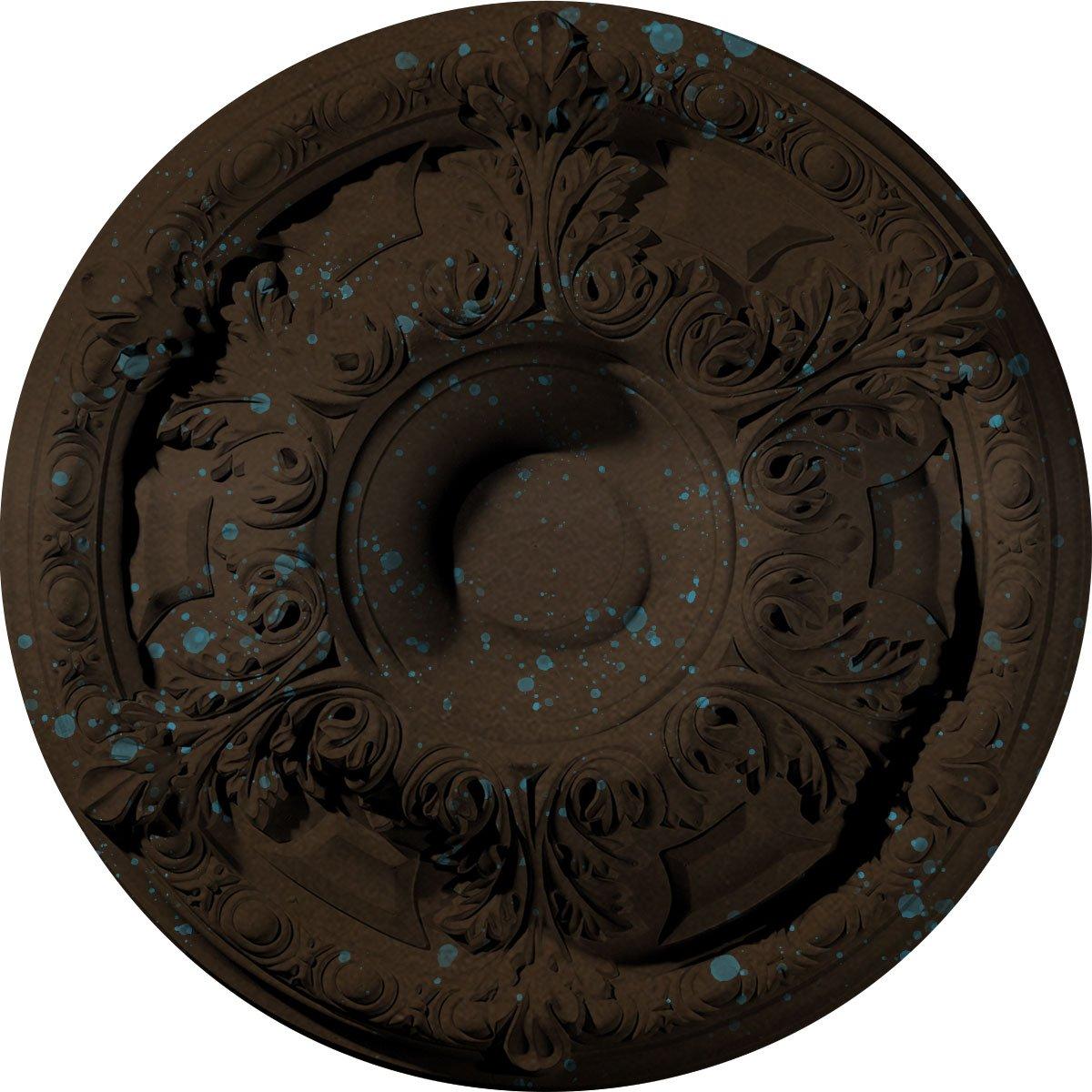 Ekena Millwork CM19GABBS Granada Ceiling Medallion, Bronze Blue Patina