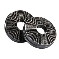 Ciarra filtro CBCF003 al carbonio per ricircolo di ricambio per cappe e ventole (confezione da 2)