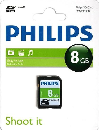 Philips SD C4 - Tarjeta de Memoria SDHC de 8 GB: Amazon.es ...