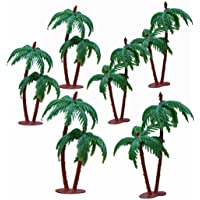 Asian Hobby Crafts Artificial Mini Tree for 3-D Models, Project Making, Hobby Crafts, Bird Houses, Toys; Qty: 6pcs; Size 4 Inches (Approx.) : Coconut