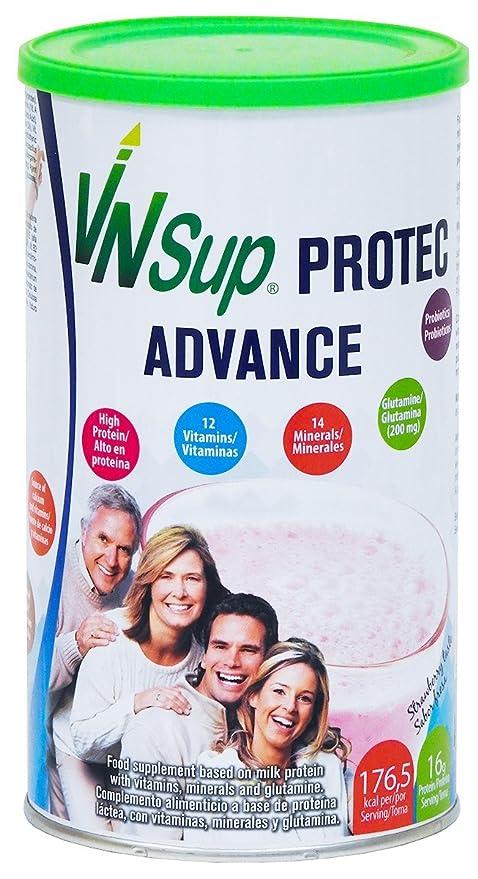 Protec Advance fresa. Batido a base de proteínas lácteas con vitaminas, minerales, probioticos