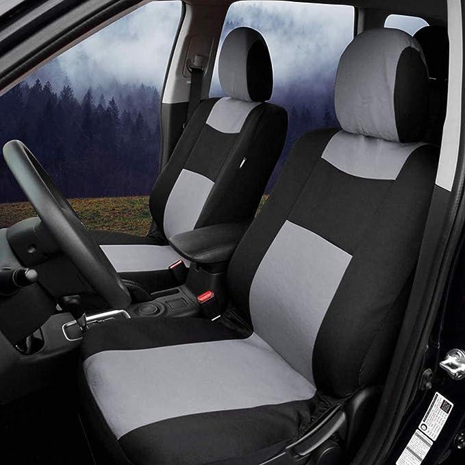 Grau Mioke Sitzbez/üge Auto Schonbez/üge Universal,Autositzbez/üge Set Auto-Zubeh/ör Innenraum