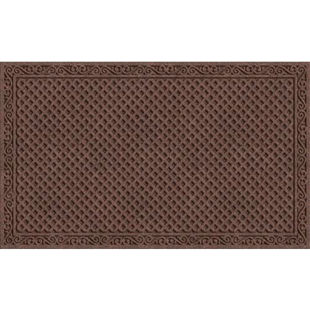 Apache Mills Textures Iron Lattice Entrance Mat, Walnut, 18-Inch By 30-Inch
