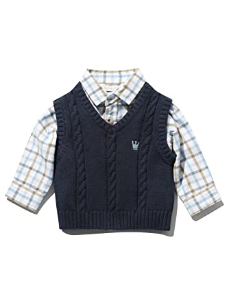 19b1e2bc5f15 M Co Dashing and Dainty Baby Boy 100% Cotton Long Sleeve Checked ...