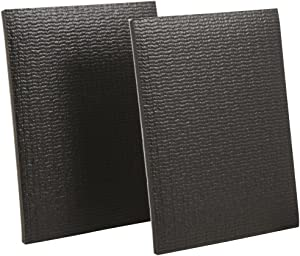 "SoftTouch Self-Stick Non-Slip Surface Grip Pads - (2 pieces), 4"" x 5"" Sheet - Black"