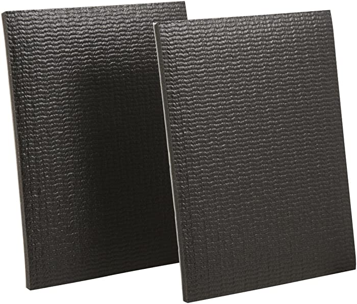 """SoftTouch Self-Stick Non-Slip Surface Grip Pads - (2 pieces), 4"""" x 5"""" Sheet - Black"""
