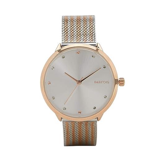 Parfois - Reloj Pulsera Gold Tray - Mujeres - Tallas Única - Dorado: Amazon.es: Relojes