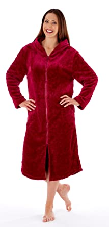 lowest price drop shipping sale retailer Inspirations Hooded Zipped Front Dressing Gown (10-12 ...