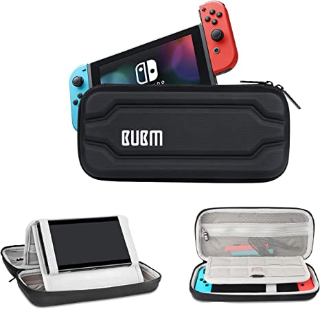 Hard Shell Nintendo Switch Case - BUBM Nintendo Switch Screen Protector, Travel Organizer for Nintendo Switch Console,Game Cards,Joycons and ...