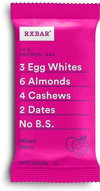 RXBAR Barra de proteína de alimentos enteros, chocolate con café Mezcla de baya 24 bares