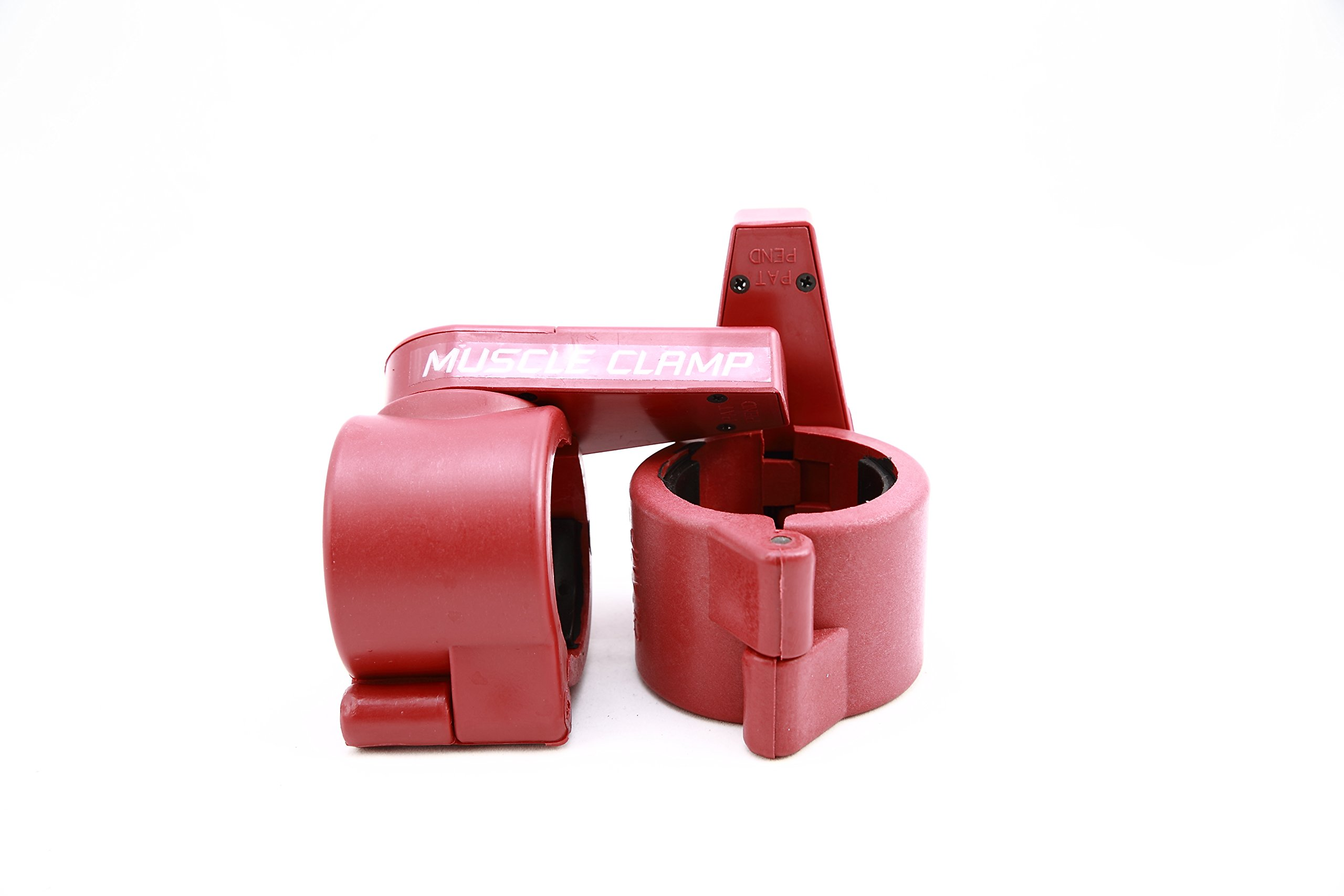 Ader Fitness Olympic Muscle Clamp Collars Pair (Red)
