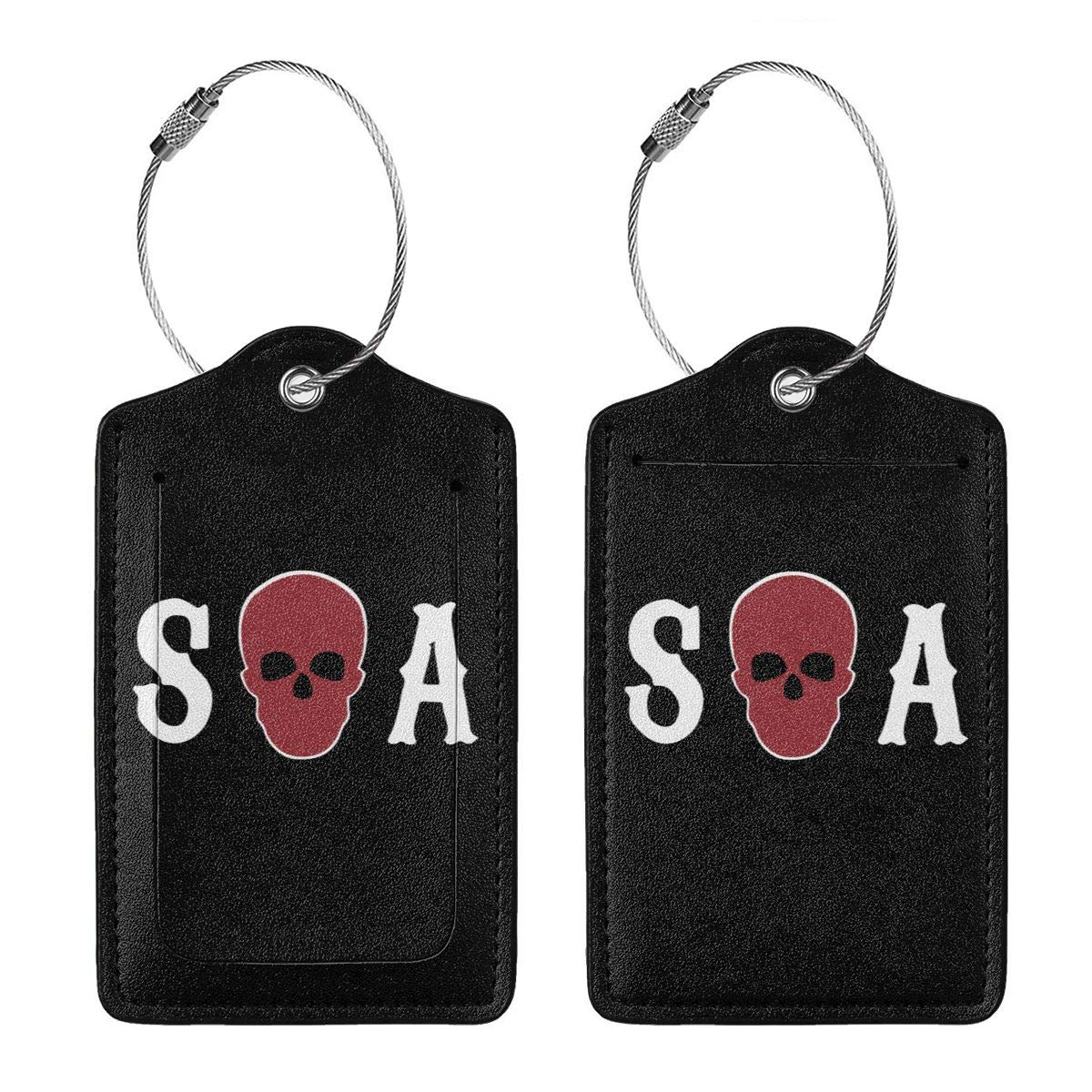 Sons Of Anarchy Season Leather Luggage Tag Travel ID Label For Baggage Suitcase