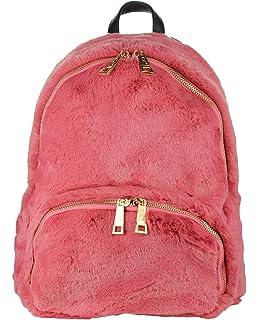 caa43022a C.C Women's Faux Fur Fuzzy Backpack Schoolbag Shoulder Bag Purse, Dark Rose