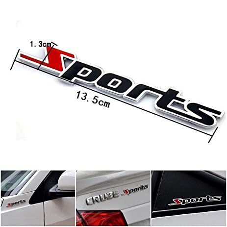 1 pc important unique 3d sports car sticker chrome metal topsale decal auto decor luggage hoverboard