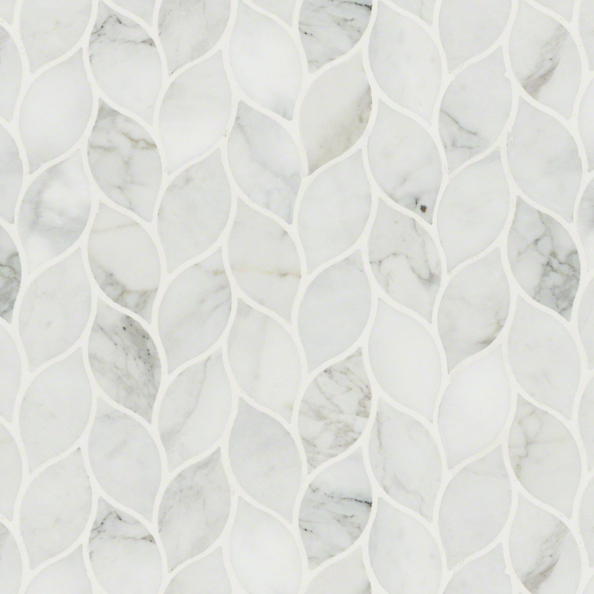 Calacatta Blanco Pattern Polished Marble Mosaic Tile