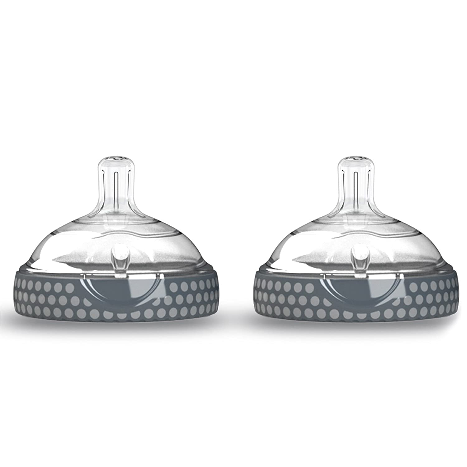 Baby Brezza BZB00182 Nipple (2 Pack), Clear/Grey