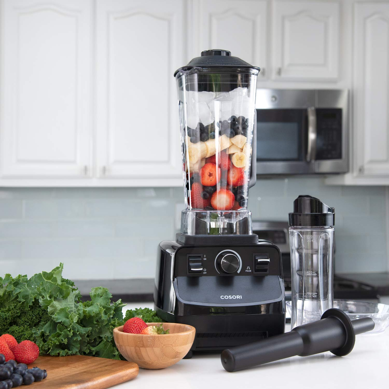 COSORI Blender for Shakes and Smoothies(50 Recipes),1400W Heavy Duty Professional Blender for Crushing Ice, Frozen Fruit with 64oz Pitcher&20oz Travel Bottle,2-Year Warranty,ETL Listed/FDA Compliant by COSORI (Image #8)