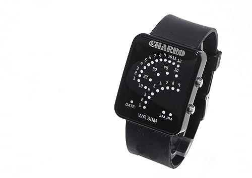 Reloj El Charro Digital Unisex Hombre Mujer goma Negro Data ch10921cn: Amazon.es: Joyería